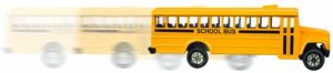 SINACO Metal Pull Back School Bus