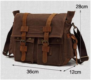 CuteHome British Style Retro Mens Canvas Messenger Bag Review