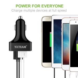 YCCTeam 4 Port USB Car Charger